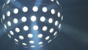 Disco ball light. In the dark stock video footage
