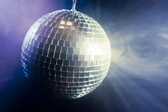 Disco ball with light rays Royalty Free Stock Photography