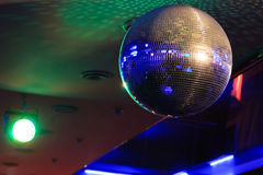 Disco ball light reflection background Stock Images