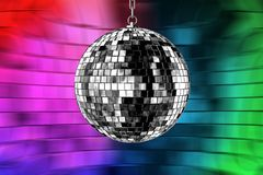 Disco ball with lights Stock Image