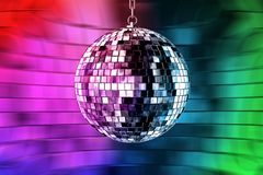 Disco ball with lights. Retro party background Royalty Free Illustration