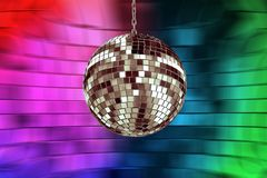Disco ball with lights Stock Images