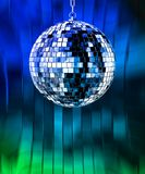 Disco ball with lights. Retro party background Stock Illustration