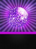 Disco ball with lights. Illustration of colorful disco ball music background Stock Illustration