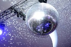 Disco ball and lights royalty free stock photography