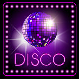 Disco ball. Mirror disco ball on background. Vector illustration royalty free illustration