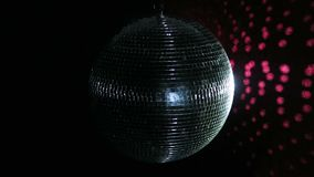 Disco Ball Mirrors Spin PAL . Disco ball spinning and sparkling as it rotates on a perfect loop. Loops seamlessly. Alpha stock video footage