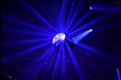 Disco ball in motion Stock Photo
