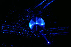 Disco ball in motion Stock Image
