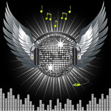 Disco ball music background Royalty Free Stock Photography