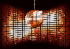 Disco Ball. Disco music golden background for party events Royalty Free Stock Photos