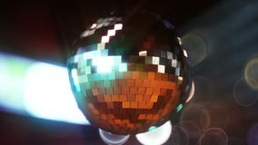 Disco ball in the neon lights of the city. In Ultra HD 4k. looping video stock video footage