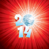 Disco Ball 2014. 2014 New Year Disco Ball with reflections stock illustration