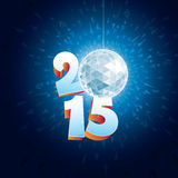Disco Ball 2015. 2015 New Year Disco Ball with reflections royalty free illustration