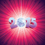 Disco Ball 2015. 2015 New Year Disco Ball with reflections vector illustration