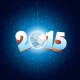 Disco Ball 2015. 2015 New Year Disco Ball with reflections stock illustration
