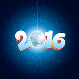 Disco Ball 2016. 2016 New Year Disco Ball with reflections vector illustration