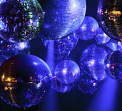Disco ball at nightclub. Party lights disco ball at nightclub Stock Image