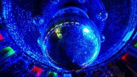 Disco ball in a nightclub stock video