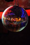 Disco ball at nightclub. Party background. Selective focuse Royalty Free Stock Photo