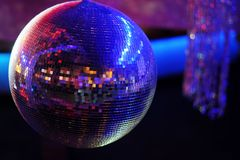 Disco ball at nightclub. Party background. Selective focuse Royalty Free Stock Image