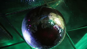 Disco ball at a nightclub. stock footage