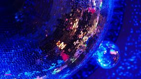 Disco ball in a nightclub stock video footage