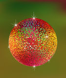 Disco Ball. orange, red, green yellow Stock Photo