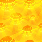 Disco Ball Orange vector Magic Seamless Pattern Royalty Free Stock Image