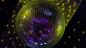 Disco ball at party. On black background. 4k uhd stock video footage