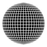 Disco ball Disco party concept Ball world concept Web idea icon black color vector illustration flat style image. Disco ball Disco party concept Ball world stock illustration