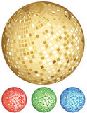 Disco ball party set Stock Photos
