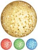 Disco ball party set Stock Photos