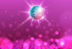 Disco ball. Disco ball pink background. Disco ball. Disco ball on pink background royalty free illustration