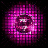 Disco ball pink party background ai Royalty Free Stock Image