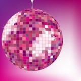 Disco ball purple stock photos
