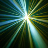 Disco ball with rays in haze Stock Photo