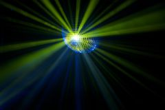 Disco ball with rays in haze Royalty Free Stock Images