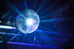 Disco ball with rays, party background Stock Images