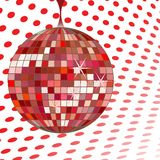 Disco ball red stock image