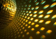 Disco ball reflection Stock Images