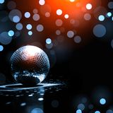 Disco-ball reflections on the floor Stock Images
