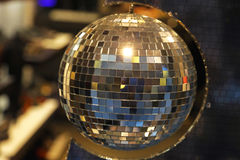 Disco ball. Retro style mirrored disco ball Stock Photography