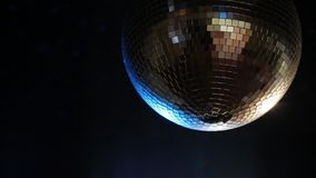 Disco ball rotating before party stock footage
