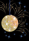 Disco ball and salute. Royalty Free Stock Images