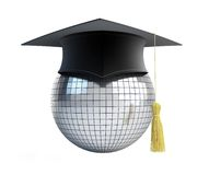 Disco ball school graduation cap Stock Image