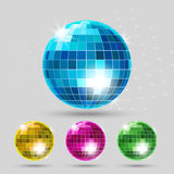 Disco ball set Royalty Free Stock Images