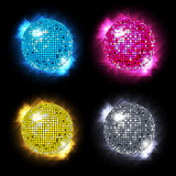 Disco Ball Set vector  / eps10 Royalty Free Stock Image