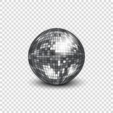 Disco ball with shadow. Mirror ball for decorating parties and discos. Stock Photos
