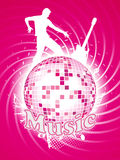 A disco ball with a silhouette. Disco ball with a silhouette vector illustration